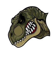 Angry T Rex Head vector image