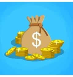 bag with dollars money vector image vector image