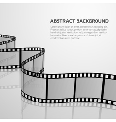 Cinema movie background with retro film vector