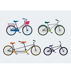 Colorful Bicycle Set vector image