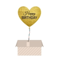 Gold Balloon Card vector image