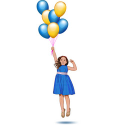 little girl with balloons vector image vector image
