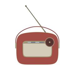 radio vintage retro old music icon speaker sound vector image