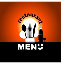 restaurant menu sunset or sunrise chef hat vector image