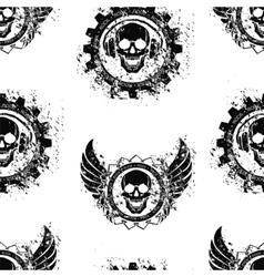 Rock skull music pattern vector image vector image