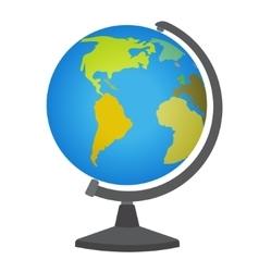 School desktop globe vector image