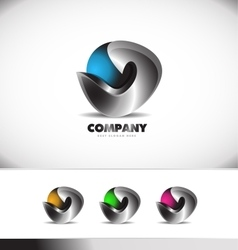Abstract 3d logo design corporate business vector image
