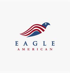 Abstract american eagle logo icon template vector