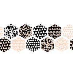 abstract hexagon seamless border geometric vector image