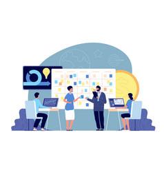 Agile development project business management vector