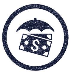 Banknotes umbrella rounded grainy icon vector