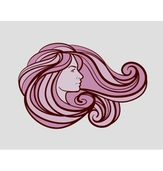 beautiful woman logo for beauty salon spa firm vector image