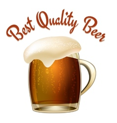 Best Quality Beer vector image