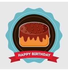 Birthday cake and desserts vector