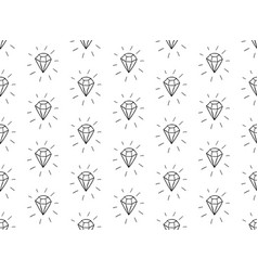 black seamless pattern with diamonds vector image