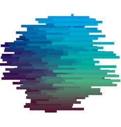 blue color glitch texture vector image