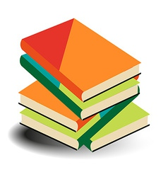 Books pile vector image