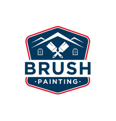 Brush painting painter service work house vector