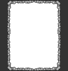 calligraphic frame border vector image