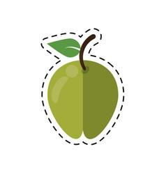 Cartoon pear fruit health diet vector