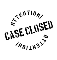 Case closed stamp vector image