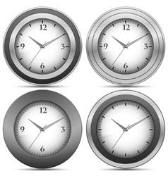 Chrome office clocks vector