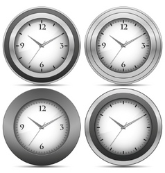 chrome office clocks vector image