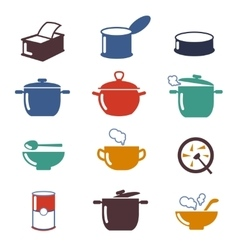 Color soup icons vector