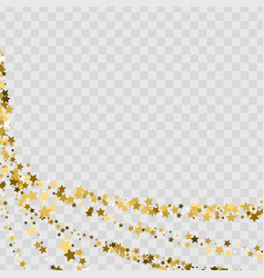 Confetti cover from gold stars swirl path like vector
