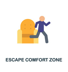 Escape comfort zone icon simple element from vector