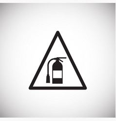 fire extinguisher sign on white background vector image