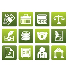 Flat Bank business and finance icons vector