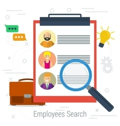 Flat concept employee search vector