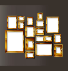 frames for photos or paintings vector image