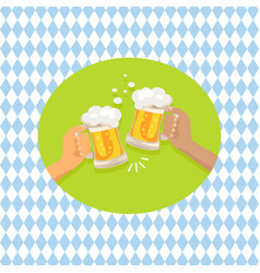 friends drinking beer shown on vector image
