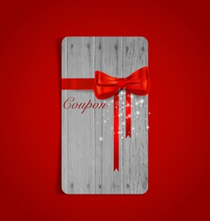 Gift coupons with gift bows and ribbons vector image