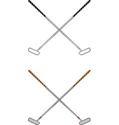 Golf putter vector