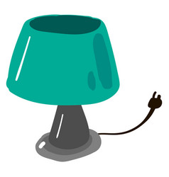 green lamp on white background vector image