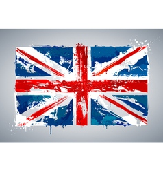 Grunge UK national flag vector