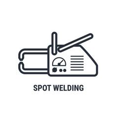Hand spot welding apparatus icon point welding vector