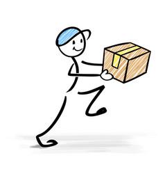 happy delivery man vector image