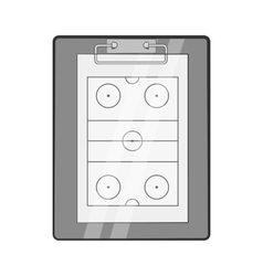 Hockey game plan icon black monochrome style vector image