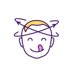 Hungry baby sign rgb color icon vector
