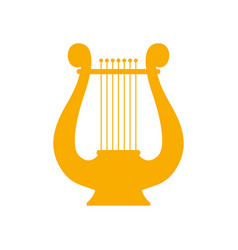 Icon lyre a stringed musical instrument art vector