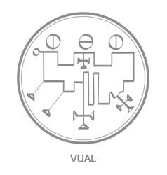 Icon with symbol demon vual vector