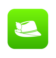 Irish hat icon digital green vector
