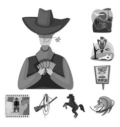 Isolated object ranch and farm logo set of vector