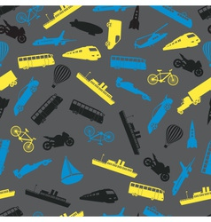 Means of transport colorful pattern eps10 vector