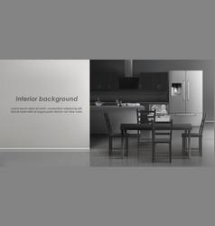 mockup of kitchen room interior vector image