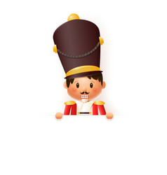 nutcracker on board - isolated vector image